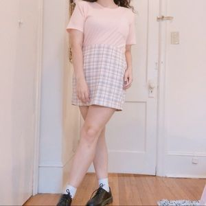 Urban Outfitters Colin Plaid Pocket Mini Skirt